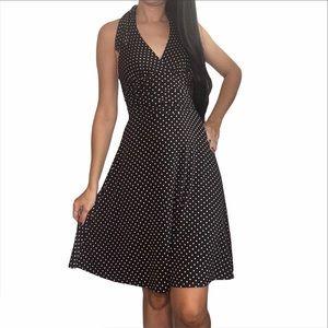 Polka Dot Halter Dress Pin Up Style